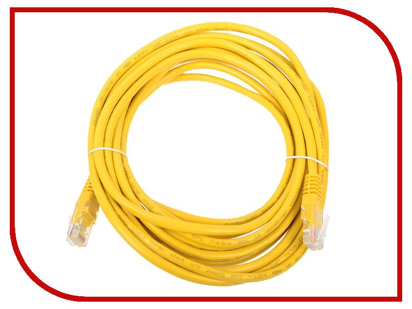 Сетевой кабель AOpen UTP cat.5e ANP511 5m Yellow ANP511_5M_Y аксессуар aopen utp cat5e anp511 grey 1 5m