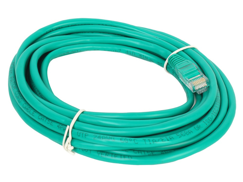 Сетевой кабель AOpen UTP cat.5e ANP511 5m Green ANP511_5M_G
