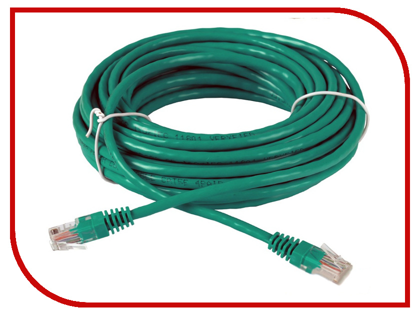Сетевой кабель AOpen UTP cat.5e ANP511 10m Green ANP511_10M_G