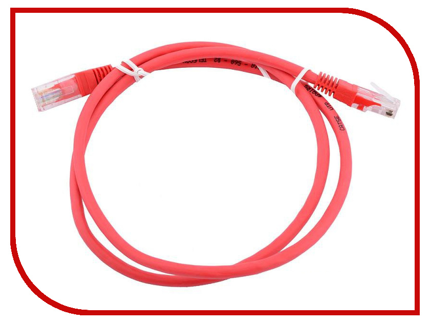 Сетевой кабель AOpen UTP cat.5e ANP511 0.5m Red ANP511_0.5M_R аксессуар aopen utp cat5e anp511 grey 1 5m