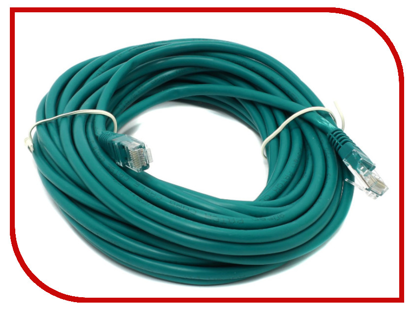 Сетевой кабель Telecom UTP cat.5e 10m Green PAT-10M_G