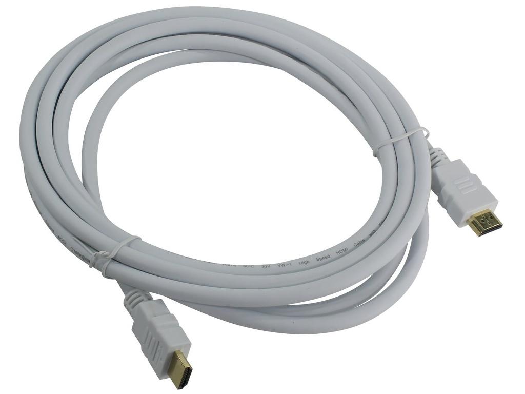 Аксессуар AOpen HDMI 19M ver 2.0 3m White ACG711W-3M аксессуар real cable ott60 3m