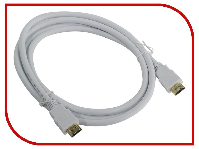 Аксессуар AOpen HDMI 19M ver 2.0 1.8m White ACG711W-1.8M аксессуар aopen hdmi 19m ver 2 0 3m acg711 3m