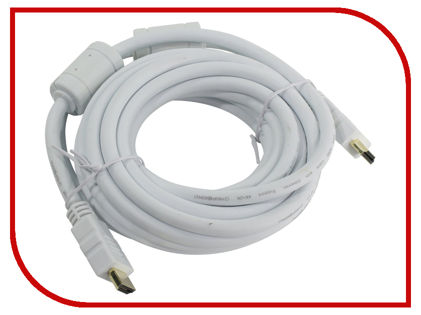 Аксессуар AOpen HDMI 19M ver 2.0 5m White ACG711DW-5M audioquest hdmi vodka 1 5m braided