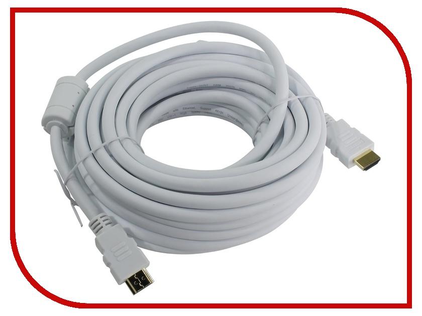 Аксессуар AOpen HDMI 19M ver 2.0 10m White ACG711DW-10M аксессуар aopen hdmi 19m ver 2 0 3m acg711 3m