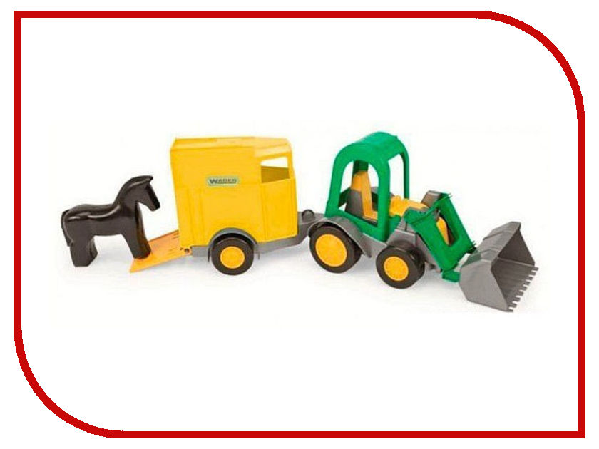 Игрушка Тигрес Трактор-багги с ковшом и прицепом 39349 трактор tomy john deere зеленый 19 см с большими колесами звук свет