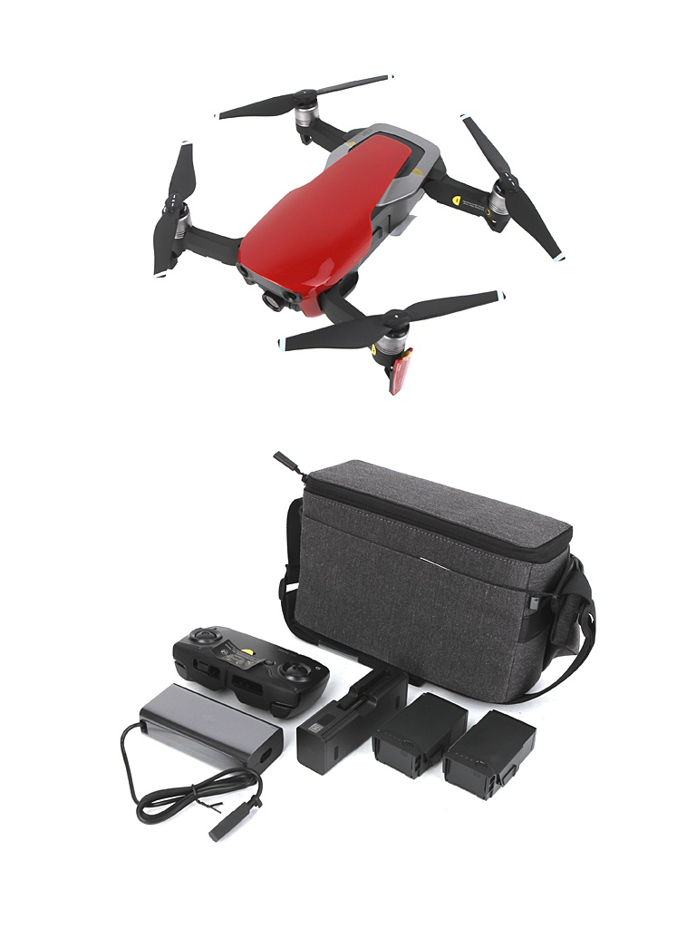 Квадрокоптер DJI Mavic Air Fly More Combo Red квадрокоптер dji mavic air с камерой черный