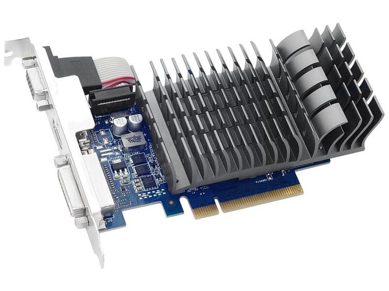 Видеокарта ASUS GeForce GT 710 954Mhz PCI-E 2.0 2048Mb 1800Mhz 64 bit DVI VGA HDMI HDCP GT710-2-SL asus gt 520 1gb gddr3 original graphics cards engt520 silent di 1gd3 lp video card vga dvi hdmi for nvidia geforce gt520