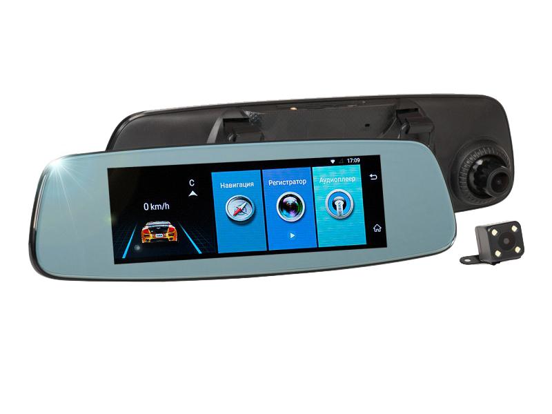 Видеорегистратор Recxon AutoSmart GPS зеркало заднего вида recxon autosmart gps глонасс android разветвитель в подарок