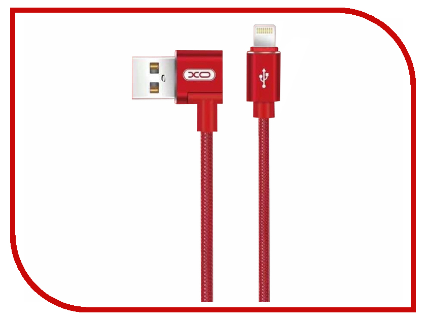 Аксессуар XO USB - Lightning 8-pin 1.0m Red NB31 шлепанцы quelle heine home 127117