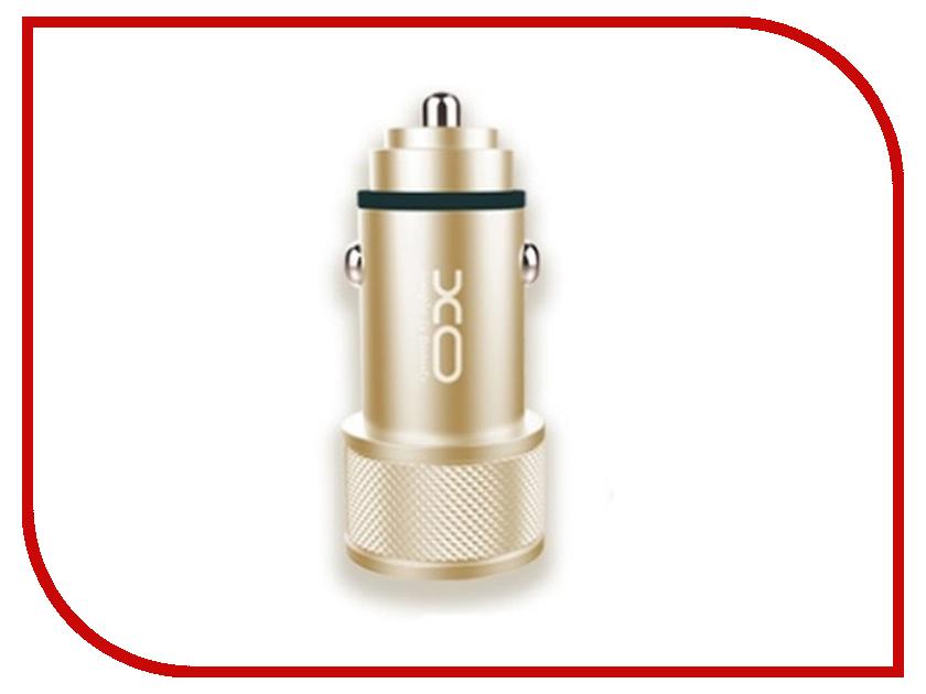 Фото - Зарядное устройство XO CC-02 2xUSB 2.4А Gold xo s20 gold
