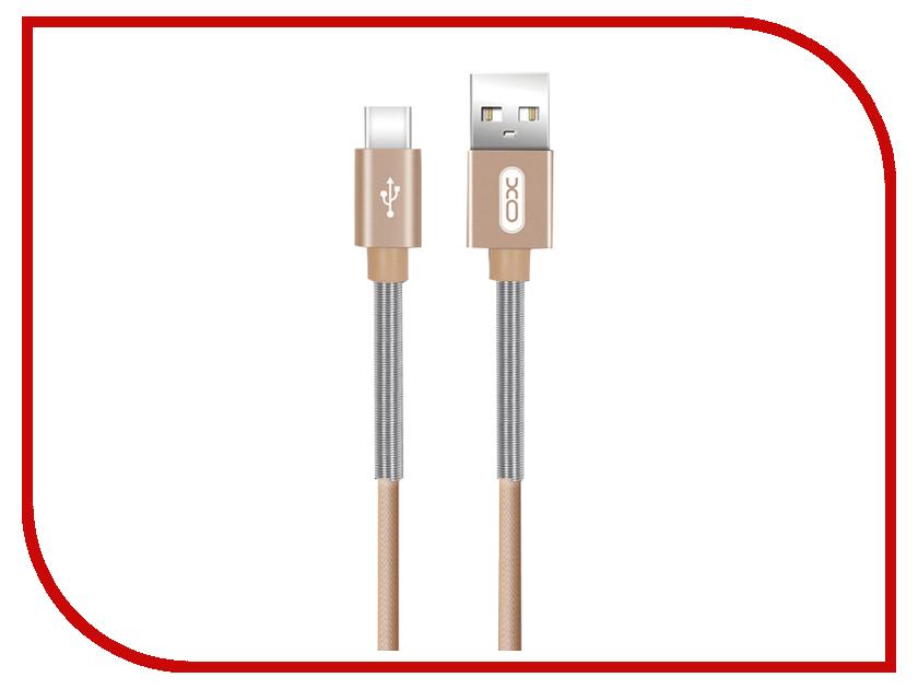 Аксессуар XO USB - Type-C 1.0m Gold NB27 тормоза для велосипеда avid e9 2014 elixir xo zee