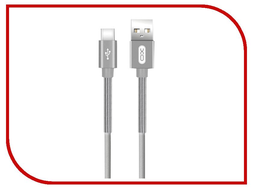 Аксессуар XO USB - Type-C 1.0m Grey NB27 аксессуар xo usb microusb 1 0m silver nb26