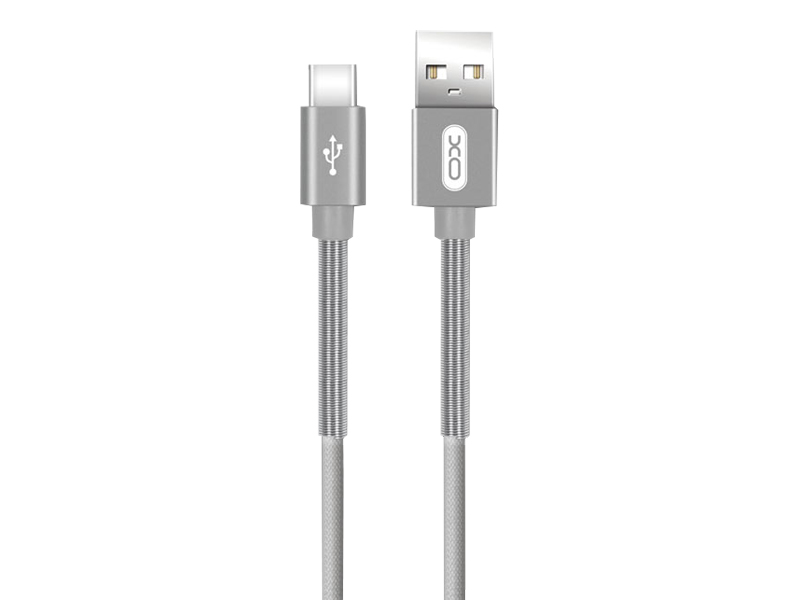 Аксессуар XO USB - Type-C 1.0m Grey NB27 xo s20 black