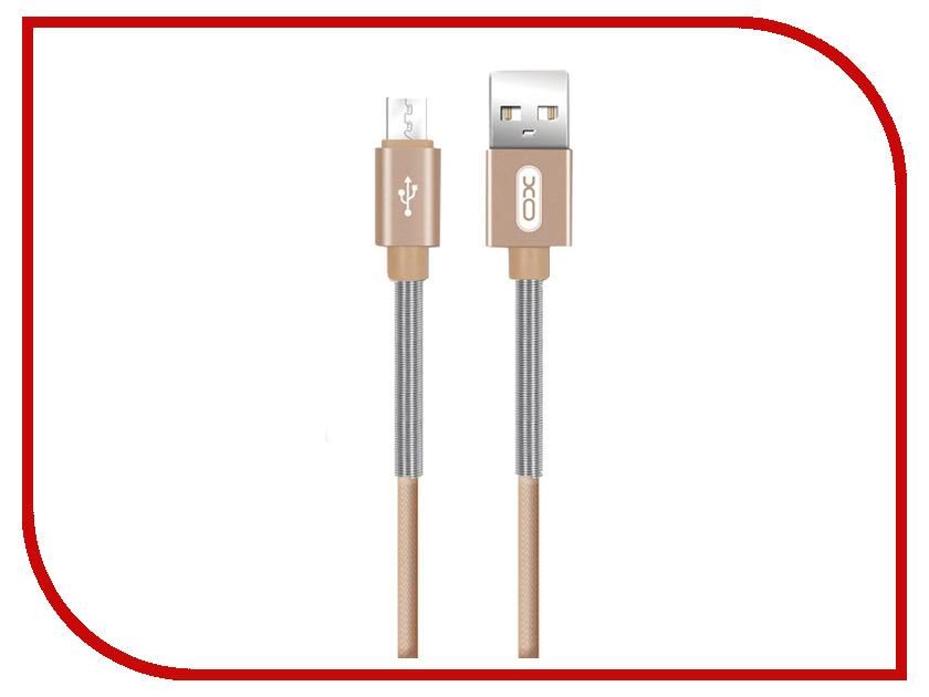 Фото - Аксессуар XO USB - MicroUSB 1.0m Gold NB27 xo s20 gold