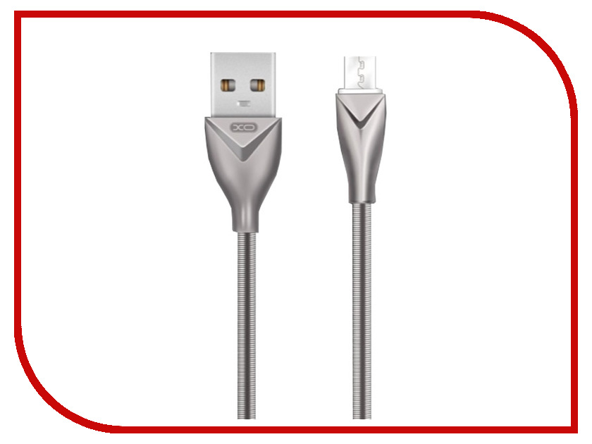 Аксессуар XO USB - MicroUSB 1.0m Silver NB26