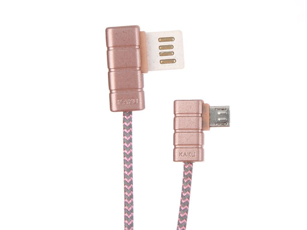 все цены на Аксессуар iKAKU Gallop USB - MicroUSB Pink онлайн