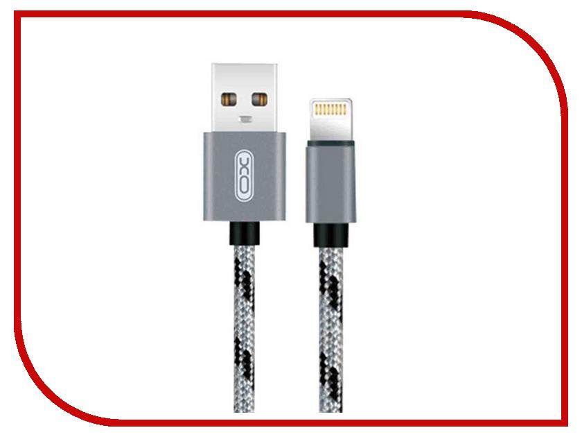 Аксессуар XO USB - Lightning 8-pin 1.0m Grey NB10 аксессуар xo 3в1 usb lightning microusb type c pink nb10