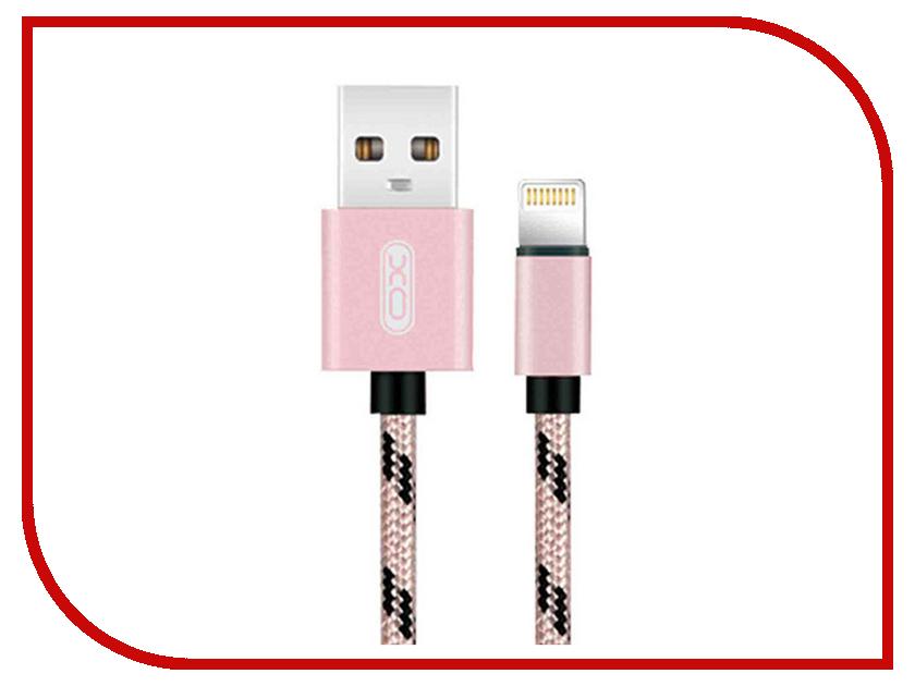 Аксессуар XO USB - Lightning 8-pin 1.0m Rose Gold NB10 baseus new era cable 8 pin adjustable usb cable rose gold