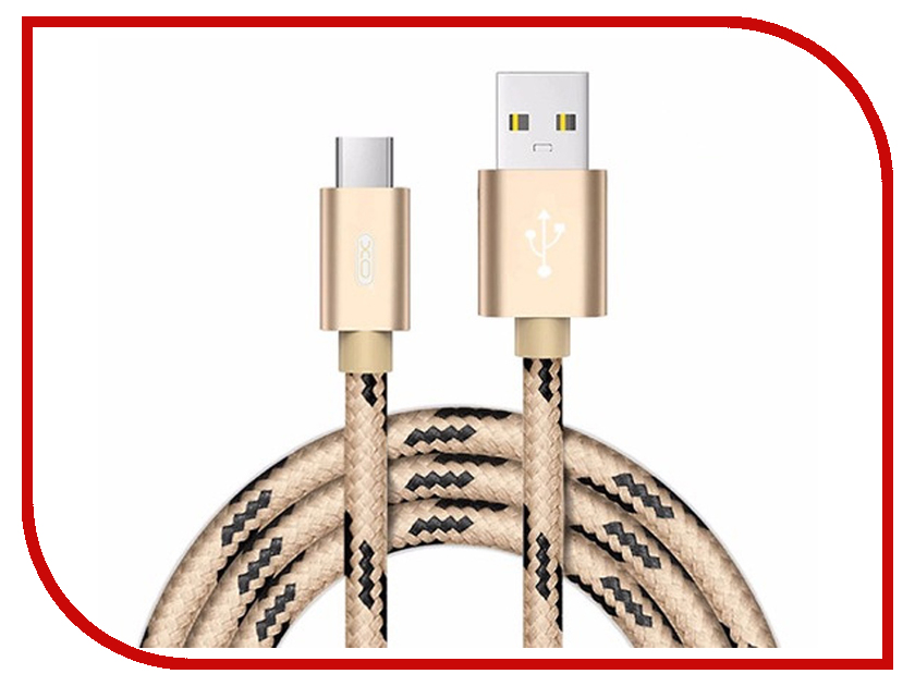 Аксессуар XO USB - Lightning 8-pin 2.0m Gold NB10 аксессуар baseus t type magnetic usb microusb lightning 8 pin gold black caltx 1v