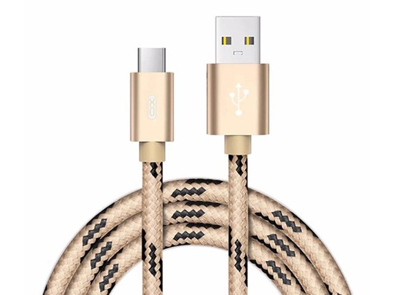 Аксессуар XO USB - Lightning 8-pin 2.0m Gold NB10 аксессуар byz bc 090 usb lightning gold