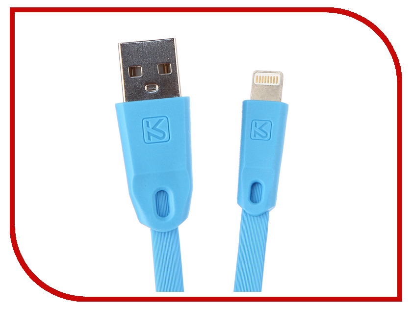 Аксессуар iKAKU Colorful USB - Lightning 8pin Blue аксессуар