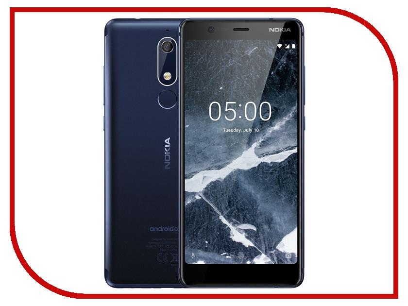 Сотовый телефон Nokia 5.1 16GB Dual Sim Blue сотовый телефон nokia 130 dual sim 2017 grey
