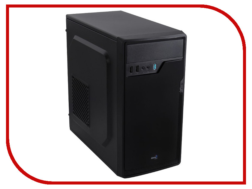 Корпус AeroCool Cs-100 Advance Black без БП корпус microatx aerocool cs 100 advance black без бп черный en55194