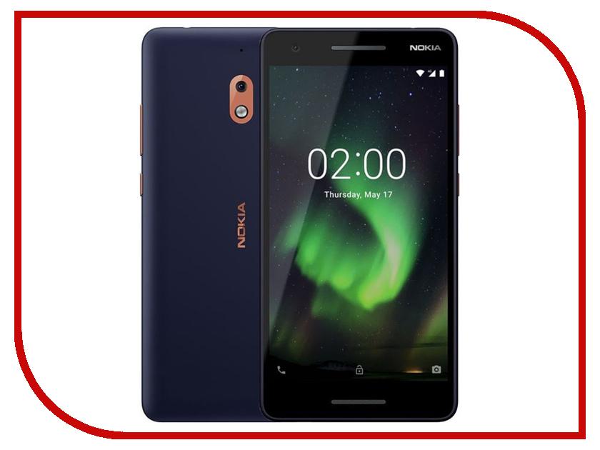 Сотовый телефон Nokia 2.1 Dual Sim Cooper-Blue сотовый телефон nokia 3310 dual dark blue