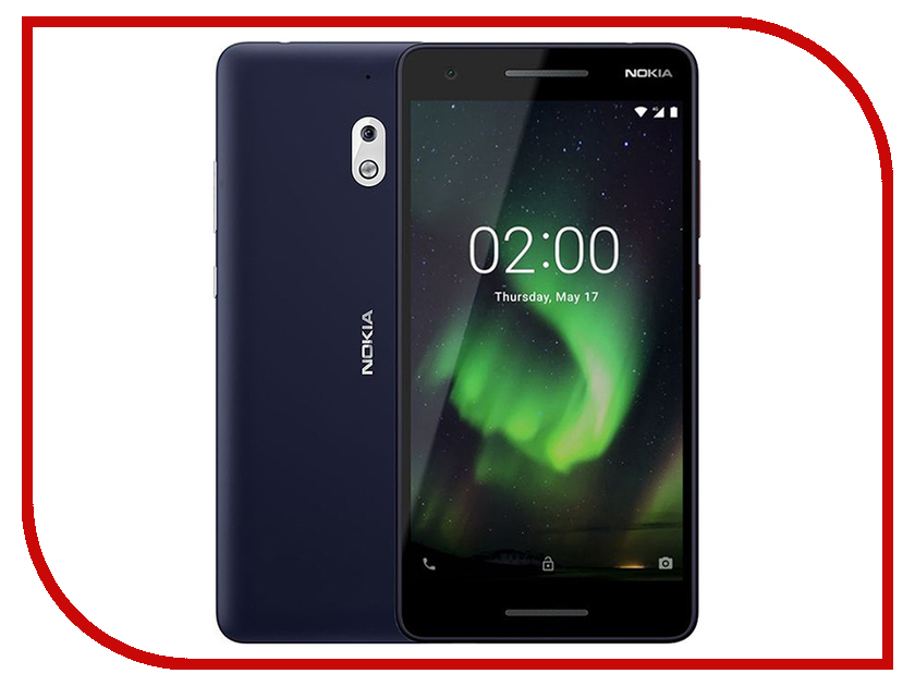 Сотовый телефон Nokia 2.1 Dual Sim Silver-Blue сотовый телефон nokia 3310 dual dark blue