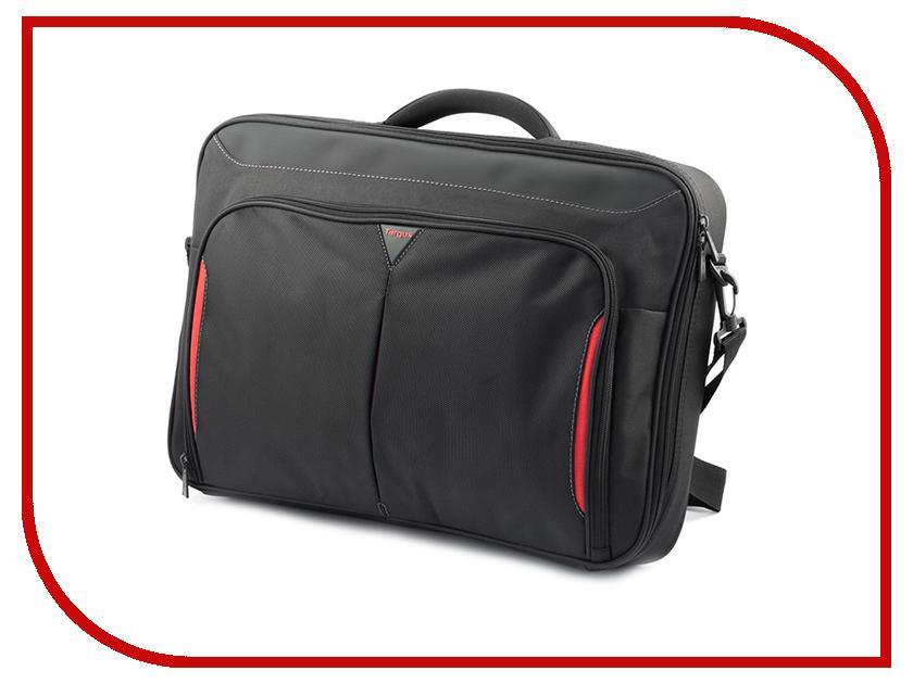 Аксессуар Сумка 18 Targus Classi+ CN418EU-71 Black-Red сумка для ноутбука targus classic clamshell cn418eu 70 black полистер до 18