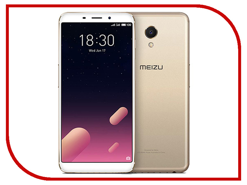 Сотовый телефон Meizu M6S 32Gb Gold смартфон meizu m6s 32gb blue