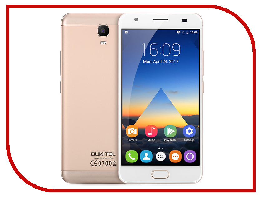Сотовый телефон Oukitel K6000 Plus Gold spain stock oukitel k6000 pro 5 5inch fhd android 6 0 smartphone gold