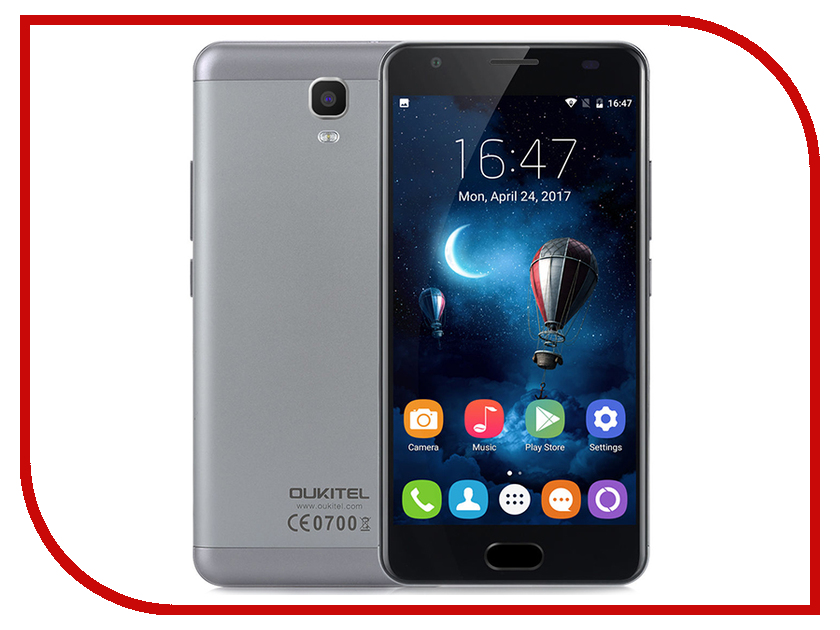 Сотовый телефон Oukitel K6000 Plus Grey spain stock oukitel k6000 pro 5 5inch fhd android 6 0 smartphone gold