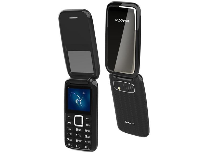 Сотовый телефон MAXVI E2 Black сотовый телефон maxvi c25 black