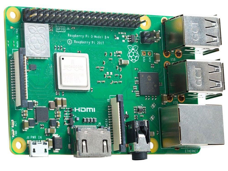Мини ПК Raspberry Pi 3 Model B+1Gb