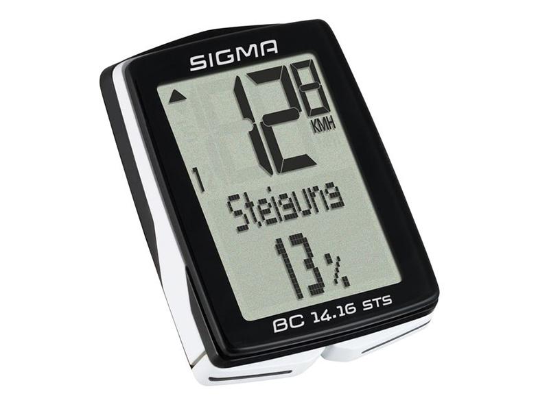 Велокомпьютер Sigma Sport BC 14.16 STS Topline SIG_01417 велокомпьютер sigma bc 16 16 sts cad беспроводной 16 функций датчик каденса 01618
