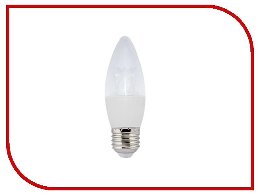 Лампочка Ecola Candle LED Premium E27 8.0W 220V 4000K прозрачная свеча с линзой C7QV80ELC