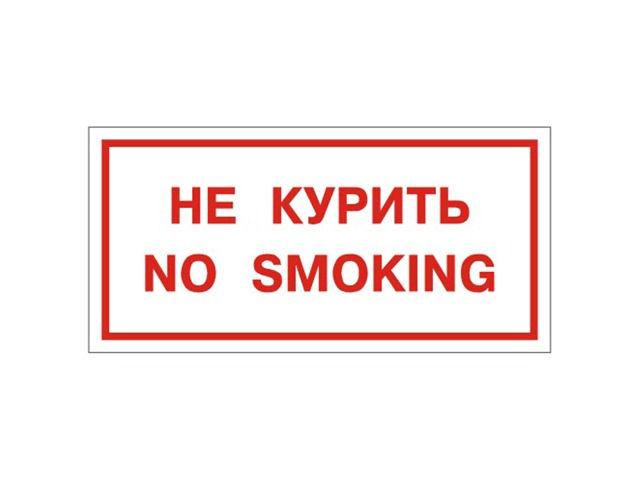 Знак Фолиант No smoking В05