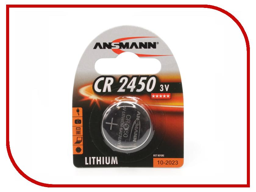 Батарейка CR2450 - Ansmann 3V BL1 батарейка cr3032 ansmann bl1 1516 0013