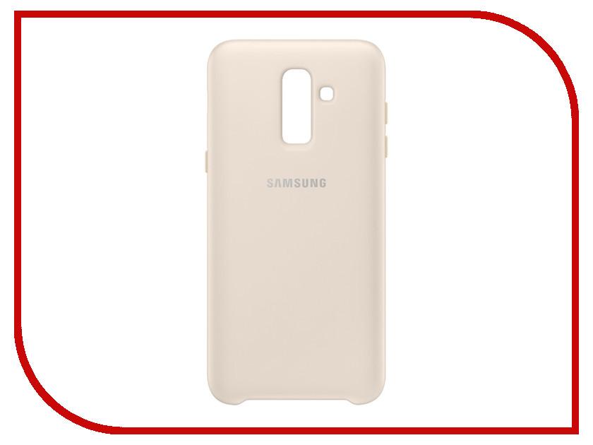 Аксессуар Чехол Samsung SM-J810 Galaxy J8 Dual Layer Cover Gold EF-PJ810CFEGRU аксессуар противоударное стекло для samsung galaxy j8 2018 innovation 2d full glue cover gold 12814