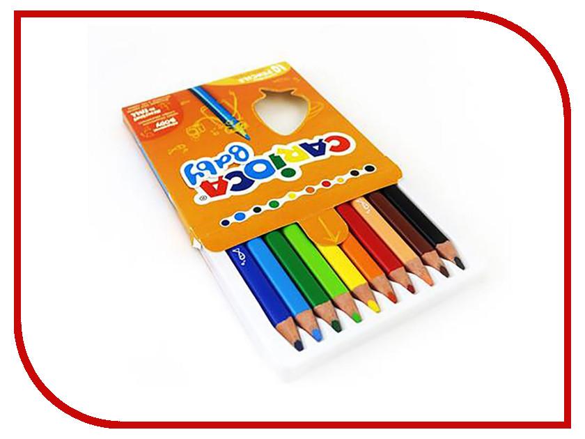 Карандаши цветные Carioca Baby 10 цветов 42819 / 262577 карандаши восковые мелки пастель carioca карандаши 18 цветов