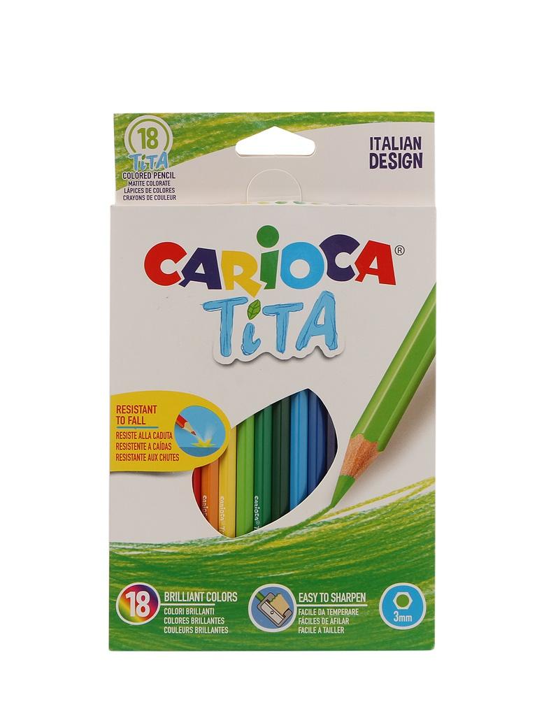 Карандаши цветные Carioca Tita 18 цветов 42827 / 262578