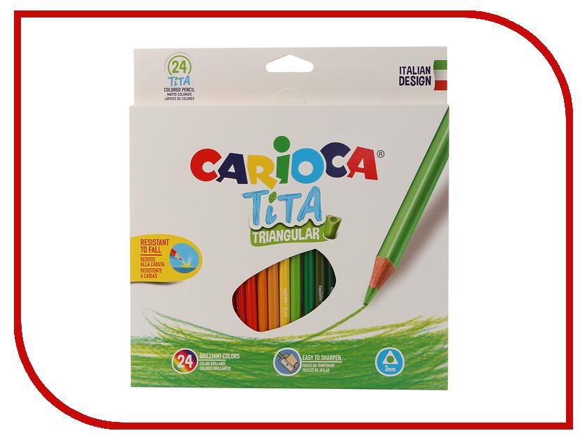 Карандаши цветные Carioca Tita 24 цвета 42787 / 262580 карандаши цветные carioca 6 цветов в блистере