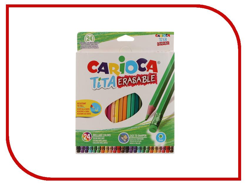 Карандаши цветные Carioca Tita Erasable 24 цветные 42938 / 262582 centrum карандаши цветные monster high