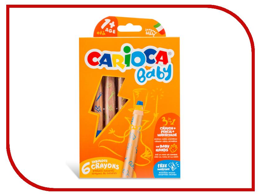 цена Восковые карандаши Carioca Baby 6 цветов 42817 / 262625