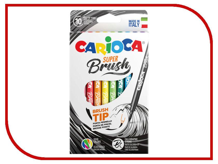 Фломастеры Carioca Super Brush 10 цветов 42937 / 262571 ntnt free post new bristle brush flexible beater brush for irobot roomba 500 series green