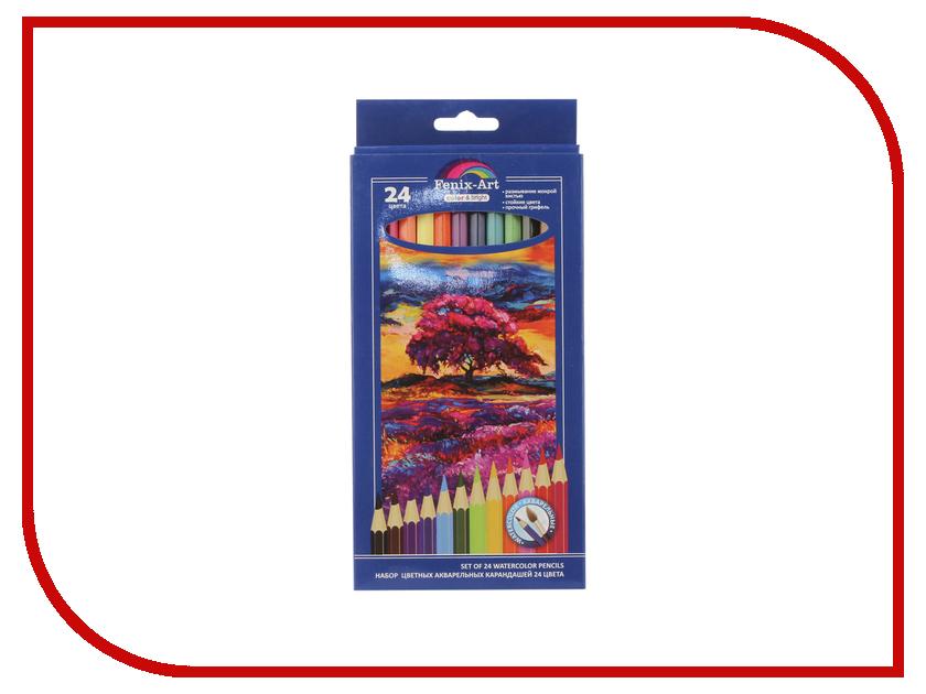 Цветные карандаши Феникс+ Fenix-Art 24шт 40435 карандаши цветные kores 48 цветов 24шт 128907