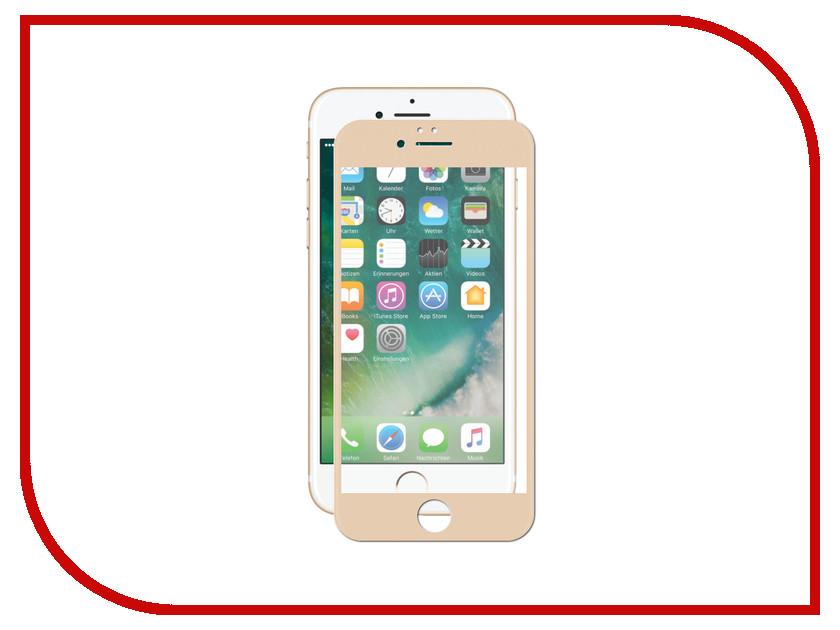 Аксессуар Защитное стекло Pero 2.5D для APPLE iPhone 6/6S Gold PRMG-I6G аксессуар защитное стекло monsterskin 5d для apple iphone 6 plus white