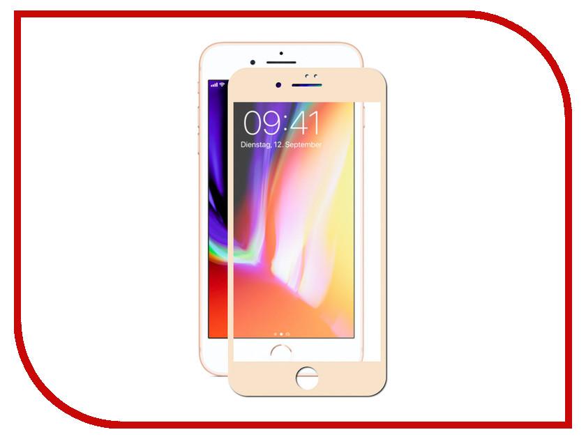 Аксессуар Защитное стекло для APPLE iPhone 7 Plus / 8 Plus Pero 2.5D Gold PRMG-I78PG аксессуар защитное стекло для apple iphone 7 plus 8 plus svekla full screen white zs svap7plus fswh